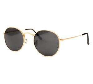 Óculos de sol redondo - Trindade - Dourado/Preto