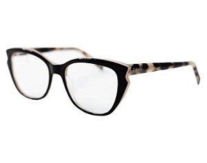 Armação para óculos de grau gatinho - Iça - Preto/nude