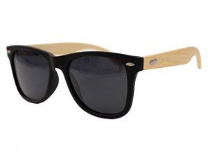 Óculos de sol retangular madeira - Cabreúva - Preto