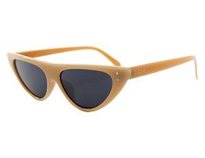 Óculos de sol retrô gatinho - Pé de moça - Nude