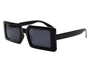 Óculos de sol retrô retangular - Campoleta - Preto