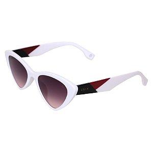 Óculos de sol retrô gatinho - Pitanga - Branco