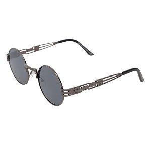 Óculos de sol redondo - Pequi - Chumbo