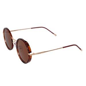 Óculos de sol redondo - Amazônia - Tartaruga/dourado