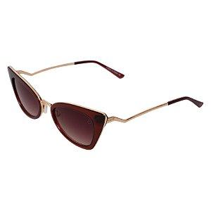 Óculos de sol retrô gatinho - Vatapá - Marrom