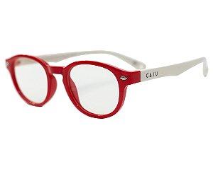 Óculos de grau infantil - Bolinha de gude - Vermelho