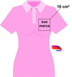 3316feef7786e Camisa Pólo Pique - Personalizada - Tamanhos (P-M-G-GG) - com Bordado  Pequeno - 10cm²