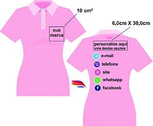 b2048146528bd Camisa Pólo Pique - Personalizada - Tamanhos (P-M-G-GG) - 2 Bordados - zoom