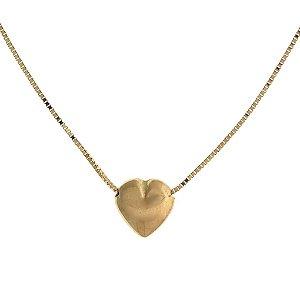 Gargantilha Coração em Ouro Amarelo 18k - PC 4.33