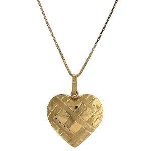 Pingente Coração em Ouro Amarelo 18k - PC 3.98