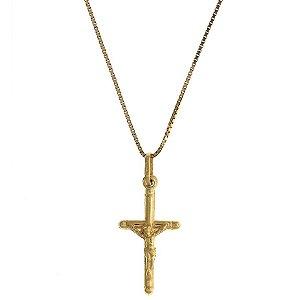 Pingente de Cruz em Ouro Amarelo 18k - PC 2.13