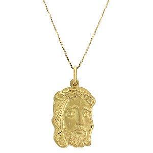 Pingente Face de Cristo em Ouro Amarelo 18k - PC 4.10