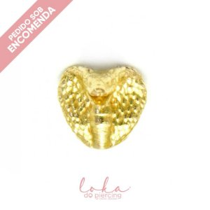 Piercing Labret Naja - Ouro 18k