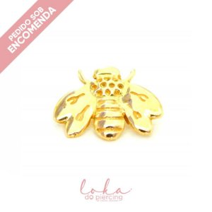 Piercing Labret Abelha - Ouro 18k