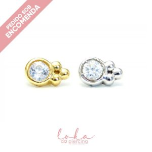 Piercing Labret Ornamental - Ouro 18k