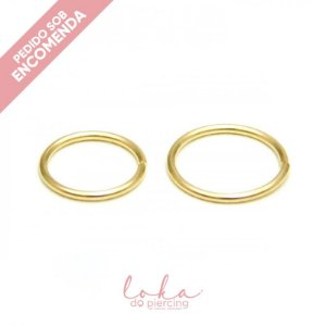 Piercing Argola Lisa - Ouro 18k