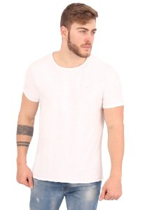 Camiseta Básica Flamê Branco