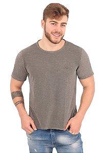 Camiseta Básica Flamê Cinza