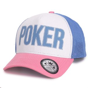 Boné Poker Rosa