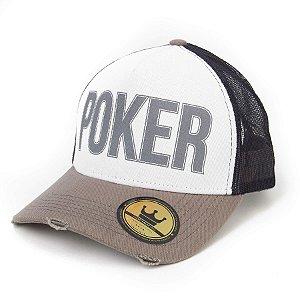 Boné Poker Cinza