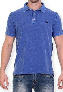 Polo Slim Basic Azul