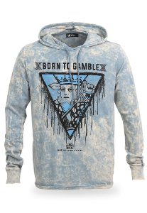 Camiseta Manga Longa Born to Gamble