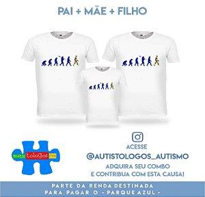 Kit Promocional 3 Camisetas Autistologos