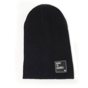 Gorro Canelado Born to Gamble Preto