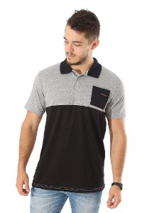 Polo Black & Grey