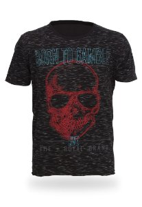 Camiseta Born to Gamble Skull
