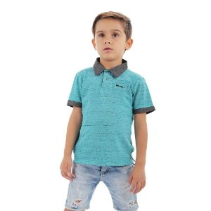 Polo Infantil Menino Royal Blue
