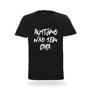 Camiseta Masculina Autismo Não Tem Cara