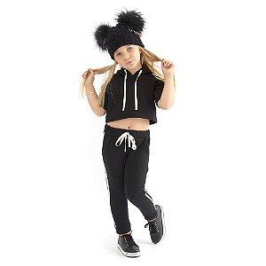 Agasalho Infantil Menina Style Comfort Black