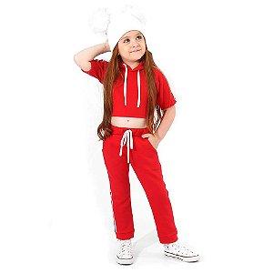 Agasalho Infantil Menina Style Comfort Red