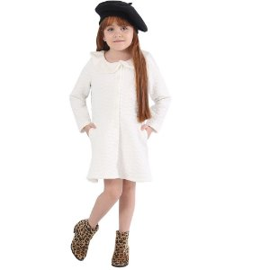 Vestido Infantil Off-White Ágata