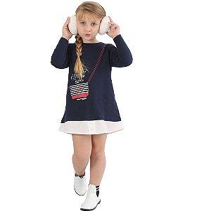 Vestido Infantil Marinho Keep Happy