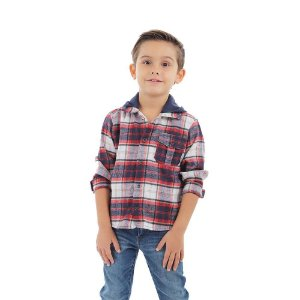 Camisa Infantil Menino Xadrez com Capuz