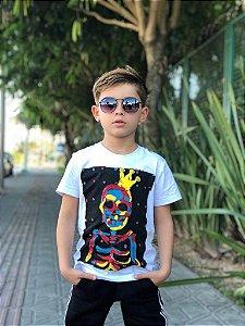 Camiseta Infantil Menino Skull King