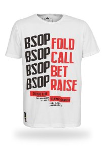 Camiseta BSOP Fold Call Bet Raise