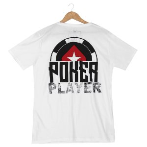 Camiseta BSOP Poker Player Branco