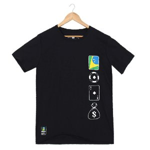 Camiseta BSOP Chip Card Money Preto