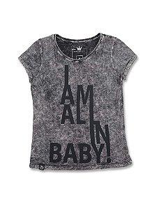 Camiseta Feminina Marmorizada I'm All In Baby