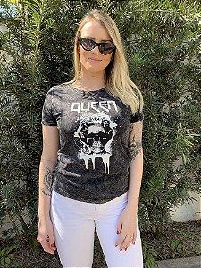 Camiseta Feminina Marmorizada Queen Black