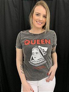 Camiseta Feminina Marmorizada Queen of Diamond