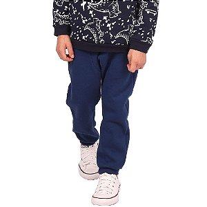 Calça Infantil Menino de Moletom Azul