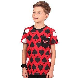 Camiseta Infantil Menino Royal Spades