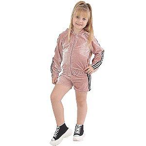 Shorts Infantil de Veludo