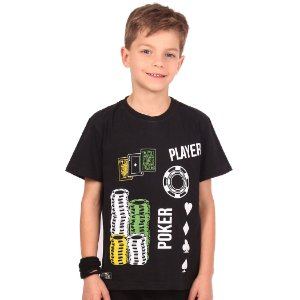 Camiseta Infantil Menino Poker Player