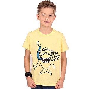 Camiseta Infantil Menino Baby Shark