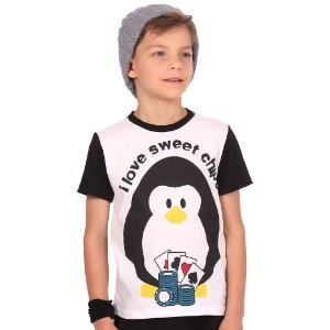 Camiseta Infantil Menino I Love Sweet Chips